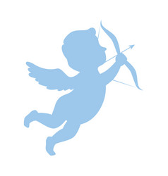 Cupid angel with arch vector