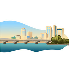 Day city landscape vector