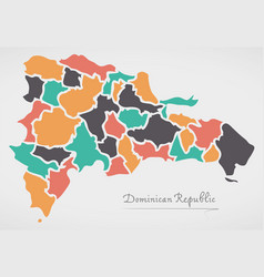 dominican republic map with states vector image