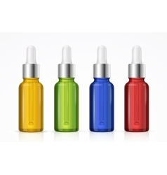 Dropper Bottle Set Colorful vector