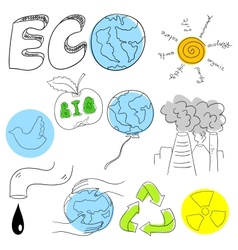 Ecology collection vector image