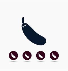eggplant icon simple gardening element symbol vector image