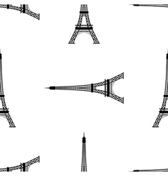 Eiffel tower Paris France seamless background vector image