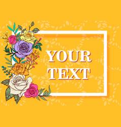flower invitation card flower background vector image