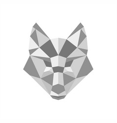 fox polygonal logo vector image