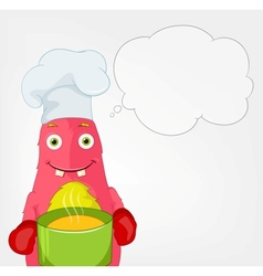 Funny Monster Chef vector image