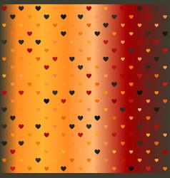 Gradient heart pattern seamless background vector