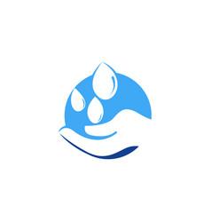 Hand water logo icon design vector