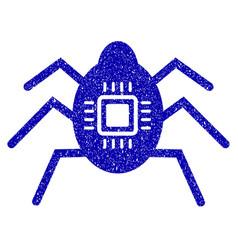 Hardware bug icon grunge watermark vector