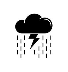 heavy showers black glyph icon vector image