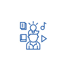 Intellectual property rights line icon concept vector