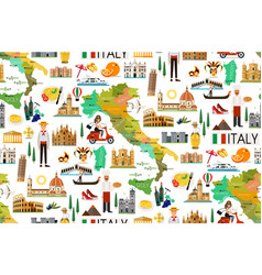 Italy travel pattern vector
