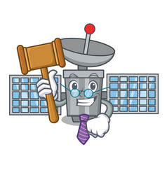 Judge satelite mascot cartoon style vector