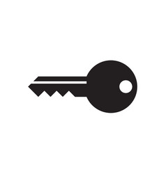key - black icon on white background vector image