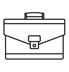 leather briefcase icon outline style vector image