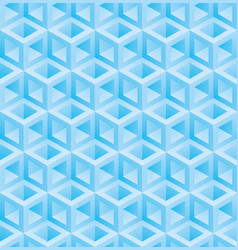 light blue cubes isometric seamless pattern vector image
