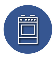 Line icon of cooker with shadow eps 10 vector