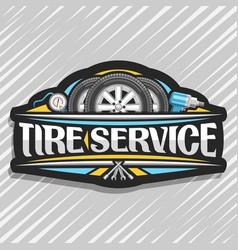 Logo for tire service vector