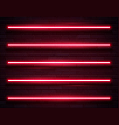 modern neon glowing lines banner on dark empty vector image