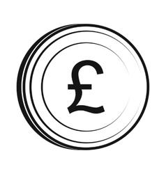 Money pound icon simple style vector image