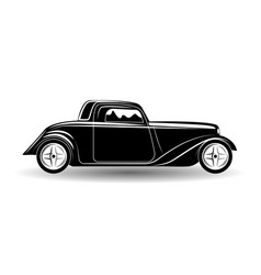 monochrome hot rod icon vector image