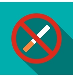 No smoking sign icon flat style vector