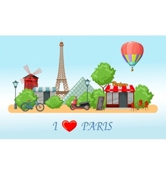Paris Skyline Composition vector image vector image