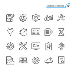 product management line icons vector image