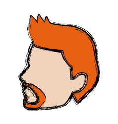 Profile man head male sport image vector