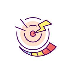 Progressive pain rgb color icon vector