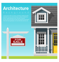Real estate investment with house for sale vector