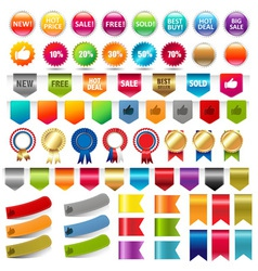Retail Stickers vector image