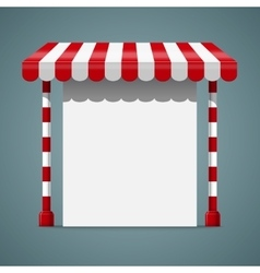 Sale stand with red awning vector image