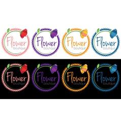 set emblems flower boutique vector image