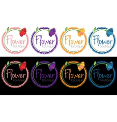 Set of emblems of flower boutique vector