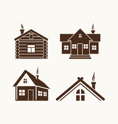 set of houses for the logo vector image