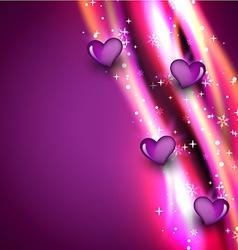 Shiny heart vector