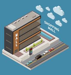 Shopping mall concept vector
