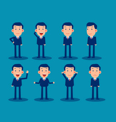 simple businessman character for use in design vector image