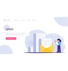 Spam or unwanted email an envelope with a large vector