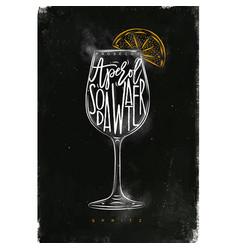 Spritz cocktail chalk color vector