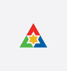 star in triangle logo symbol icon element vector image