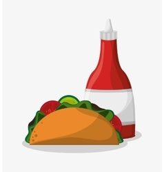 Taco of fast food concept vector