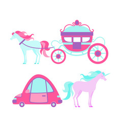 transport for the little princess vector image vector image