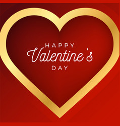 Valentine day abstract background with red and vector