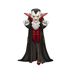 Vampire icon count dracula costume vector