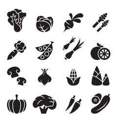 Vegetable icon set 2 vector