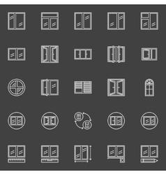 Window installation icons vector