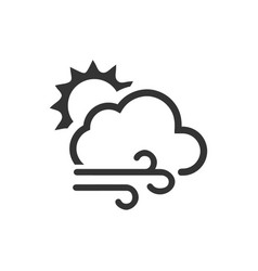 Windy weather icon vector
