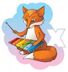 children alphabet letter x vector image vector image